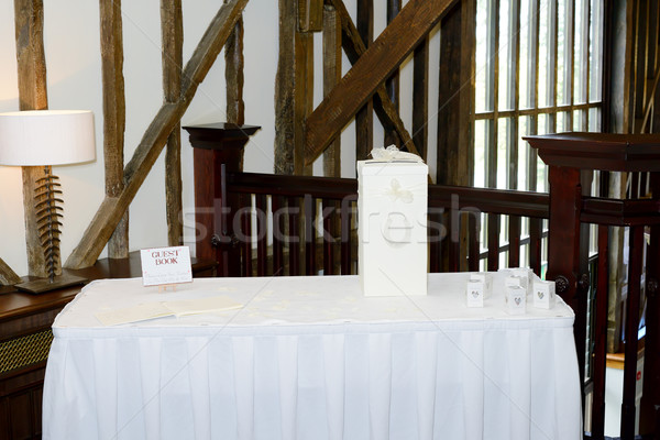 Wedding reception gift table Stock photo © KMWPhotography