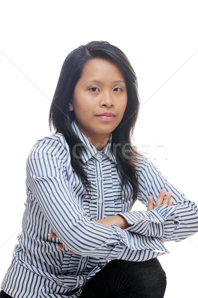 Smart asian dame vrouw naar business Stockfoto © KMWPhotography