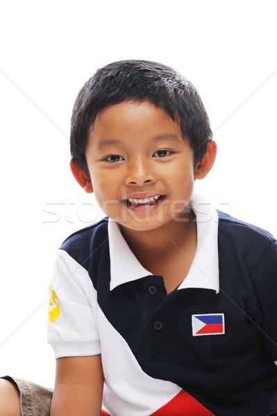Erkek Filipinler bayrak gömlek Stok fotoğraf © KMWPhotography