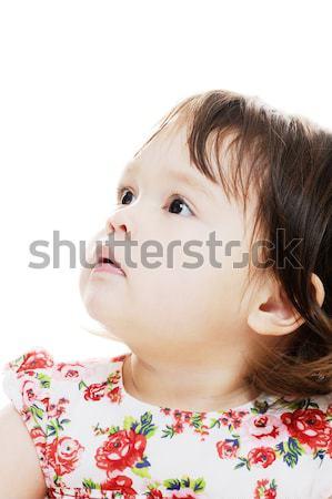 Meisje omhoog jong meisje Stockfoto © KMWPhotography
