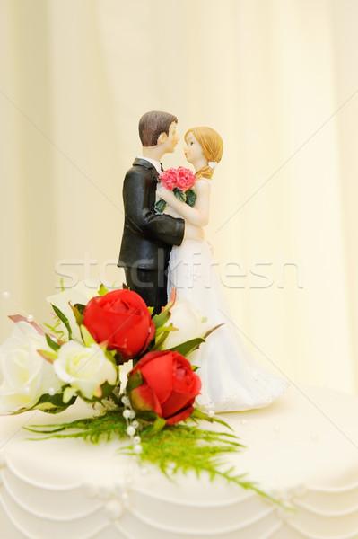 Wedding cake bride and groom Stock photo © KMWPhotography