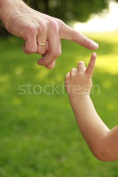El ebeveyn çocuk doğa bebek sevmek Stok fotoğraf © koca777