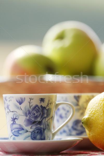 Thé fruits pique-nique extérieur printemps alimentaire Photo stock © koca777
