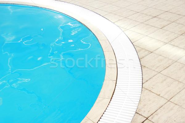 Vieux belle bleu eau piscine santé Photo stock © koca777