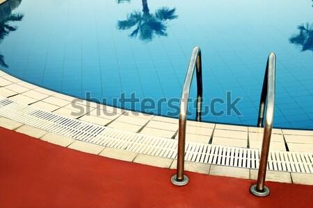 шаг синий бассейна воды здоровья спортивных Сток-фото © koca777