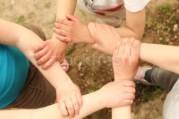 Eller grup çocuklar çocuk takım genç Stok fotoğraf © koca777