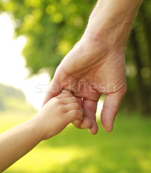Rodziców strony mały dziecko rodziny bezpieczeństwa Zdjęcia stock © koca777