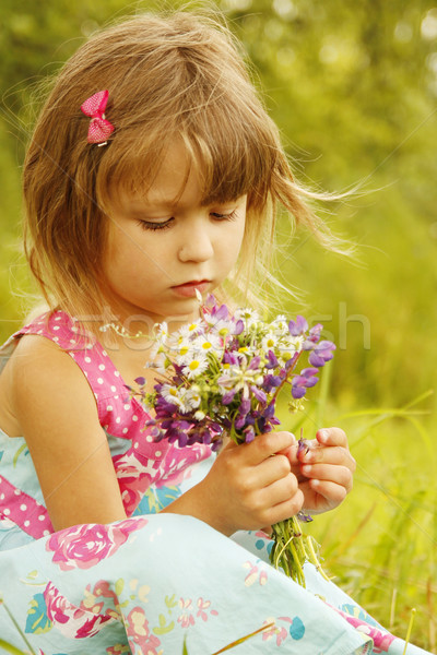красивой девочку природы семьи девушки ребенка Сток-фото © koca777
