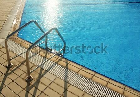 Adımlar mavi su havuz sağlık spor Stok fotoğraf © koca777