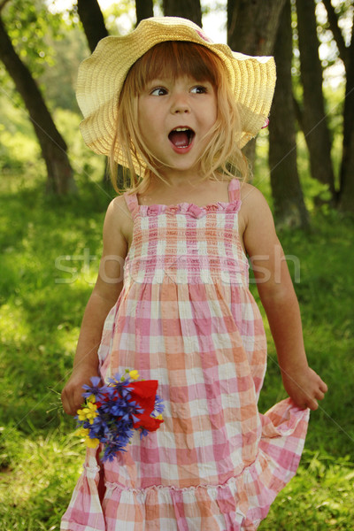Piękna dziewczynka charakter rodziny dziewczyna baby Zdjęcia stock © koca777