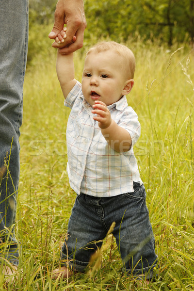 little boy with his father on the nature Stock photo © koca777