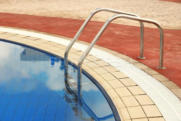 Pasos azul agua piscina deportes espacio Foto stock © koca777
