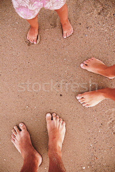семьи следов песок пляж любви природы Сток-фото © koca777