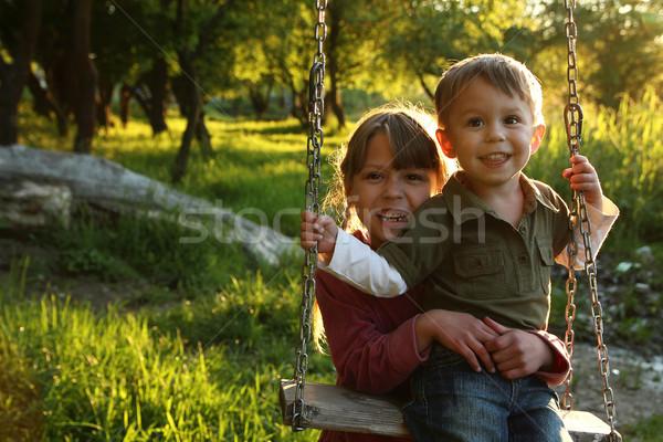children on a swing Stock photo © koca777