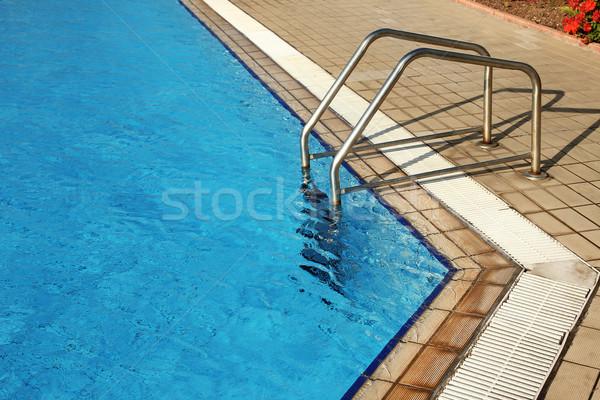 步驟 藍色 水 水池 健康 體育 商業照片 © koca777