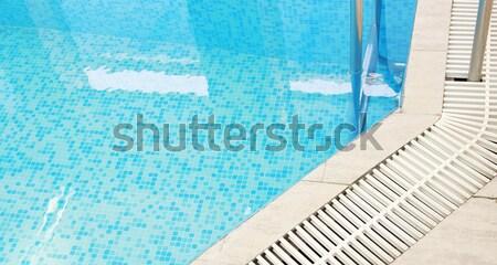 Stap Blauw zwembad water gezondheid sport Stockfoto © koca777