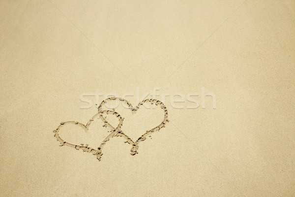 heart drawn in the sand  Stock photo © koca777