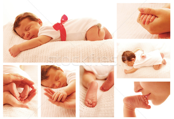 Une cute peu bébé mains Photo stock © koca777