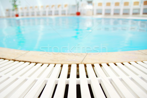 one beautiful blue water pool Stock photo © koca777