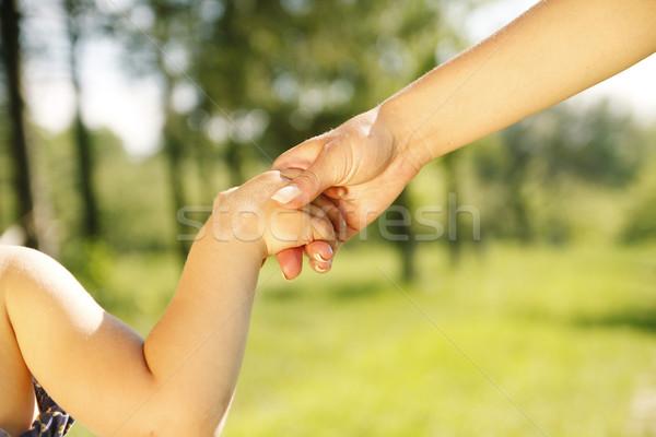 родителей стороны небольшой ребенка семьи безопасности Сток-фото © koca777