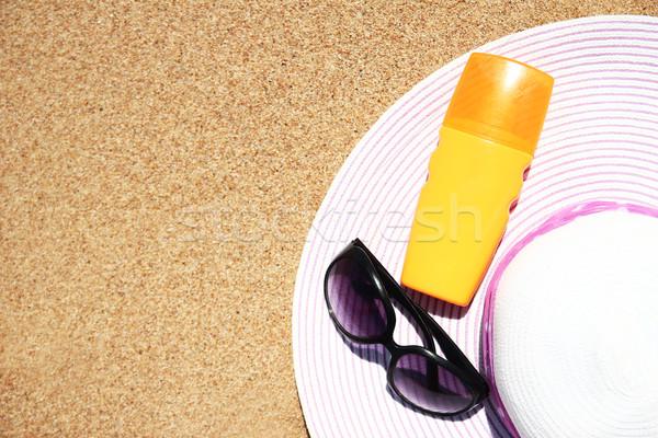Summer accessories on the seashore Stock photo © koca777
