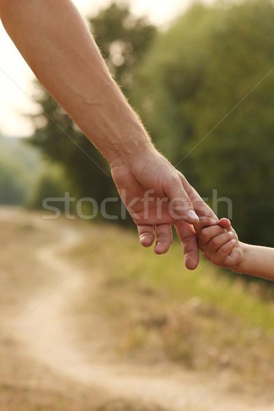 Madre mano piccolo bambino sicurezza verde Foto d'archivio © koca777