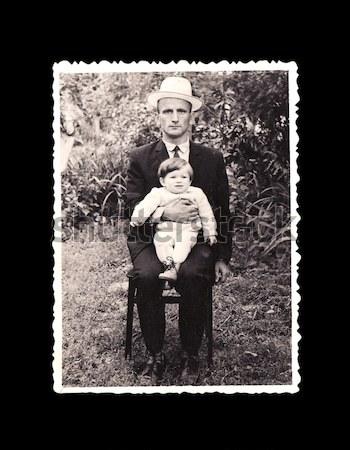 old vintage picture men Stock photo © koca777