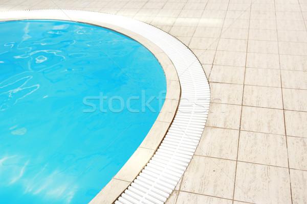 öreg gyönyörű kék víz medence egészség Stock fotó © koca777