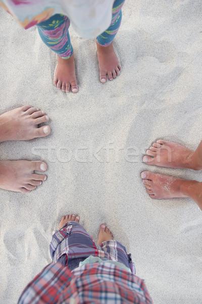 Family feet on the sand  Stock photo © koca777