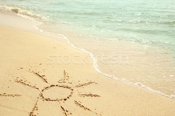 sun in the sand on the beach Stock photo © koca777