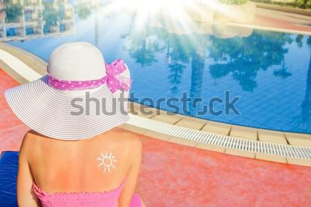 girl  in the water basin Stock photo © koca777