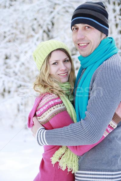 пару любви парка зима семьи Сток-фото © koca777