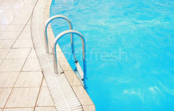 Stappen water zwembad gezondheid sport zomer Stockfoto © koca777