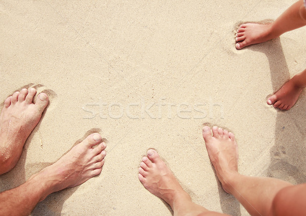 family footprints in the sand on the seashore  Stock photo © koca777