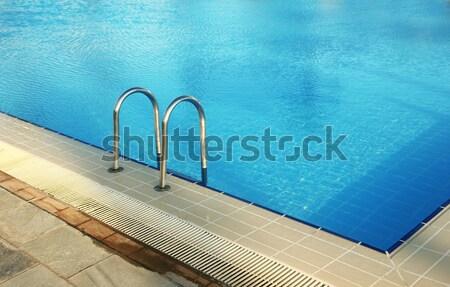 Lépcső víz medence egészség sportok nyár Stock fotó © koca777
