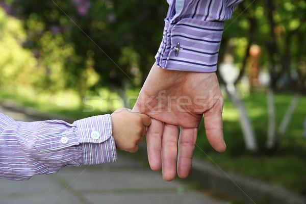родителей стороны небольшой ребенка семьи зеленый Сток-фото © koca777