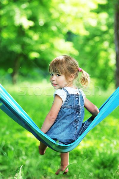 little girl on a hammock Stock photo © koca777