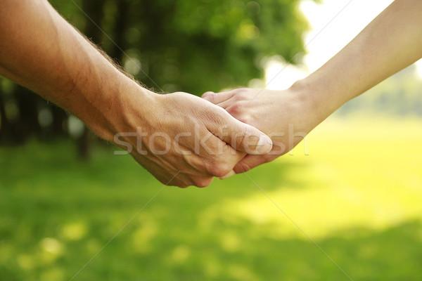 два рук любви пару природы семьи Сток-фото © koca777