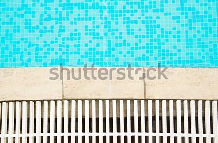 Een Blauw water zwembad gezondheid sport Stockfoto © koca777