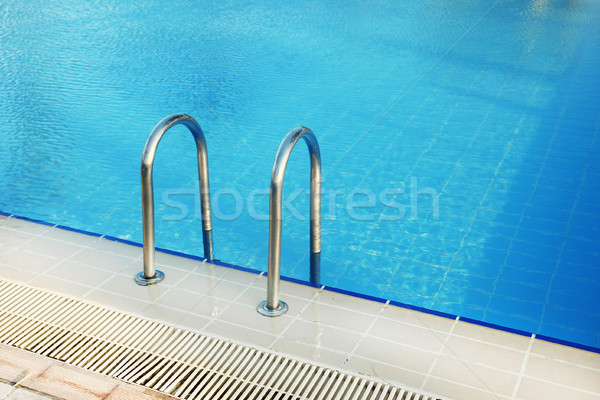 steps in blue water pool Stock photo © koca777