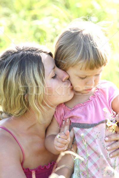 красивой девочку матери природы семьи ребенка Сток-фото © koca777