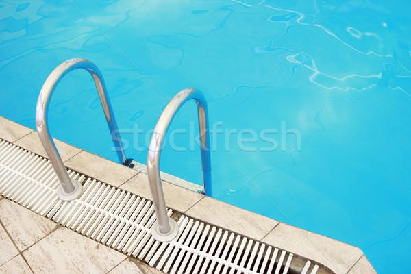 Stappen water zwembad gezondheid zomer Blauw Stockfoto © koca777