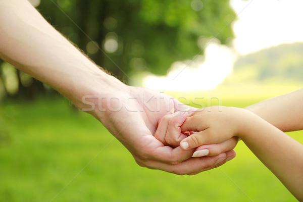 Aile ebeveyn el küçük çocuk Stok fotoğraf © koca777