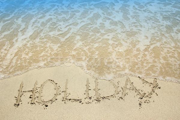 песок морем пляж любви аннотация Сток-фото © koca777