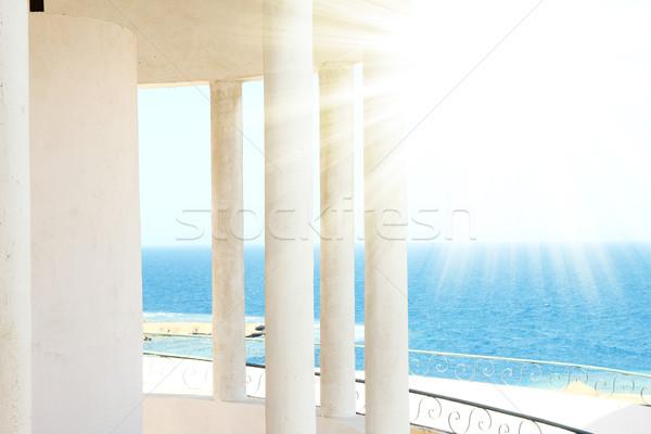 Stockfoto: Windows · boog · zee · water · landschap