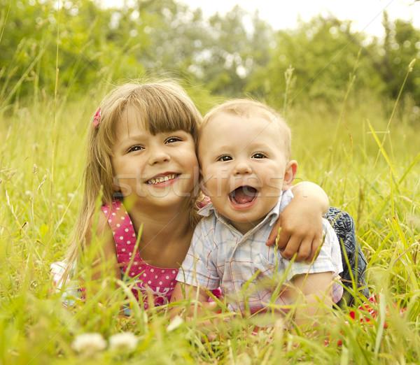 мало брат сестра играет природы детей Сток-фото © koca777