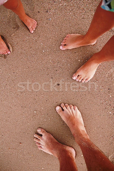 family footprints in the sand on the beach  Stock photo © koca777