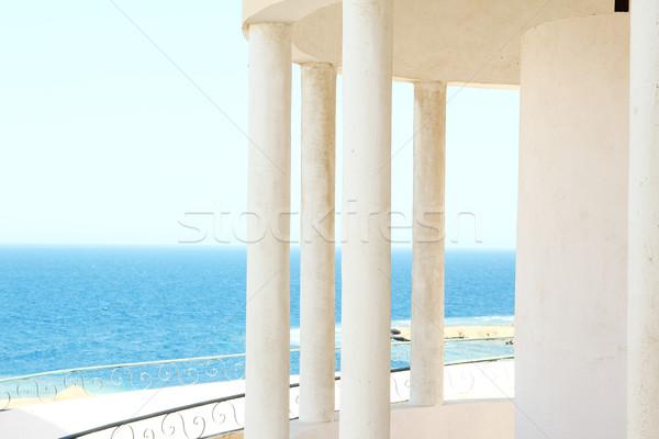 窓 アーチ 海 表示 水 風景 ストックフォト © koca777