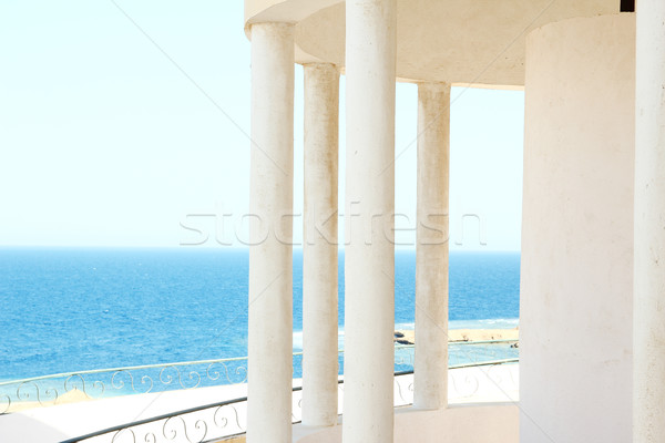Windows arch with sea view Stock photo © koca777