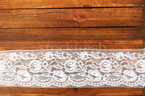 flowers roses on a wooden background with lace Stock photo © koca777